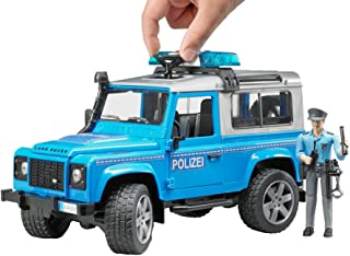 Bruder Land Rover Defender Police Vehicle with Policeman, Blue