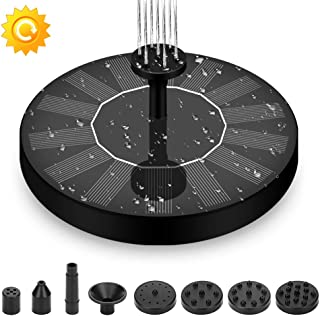 Solar Pump, Solar Fountain Pump, LEMBO DIRECT Portable Solar Birthbath Water Fountain 1.4W Free Standing & Floating Outdoor Submersible Powered Water Pumps For Small Pond, Swimming Pool, Garden, Patio