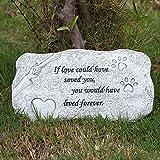 BJSM Pet Memorial Garden Stones, Indoor Outdoor Backyard Marker Grave Tombstone for Dog or...