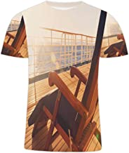 Deck Chair on a Cruise Ship Hipster Graphic Fashion Crewneck T Shirt for Men/Women,146904,L