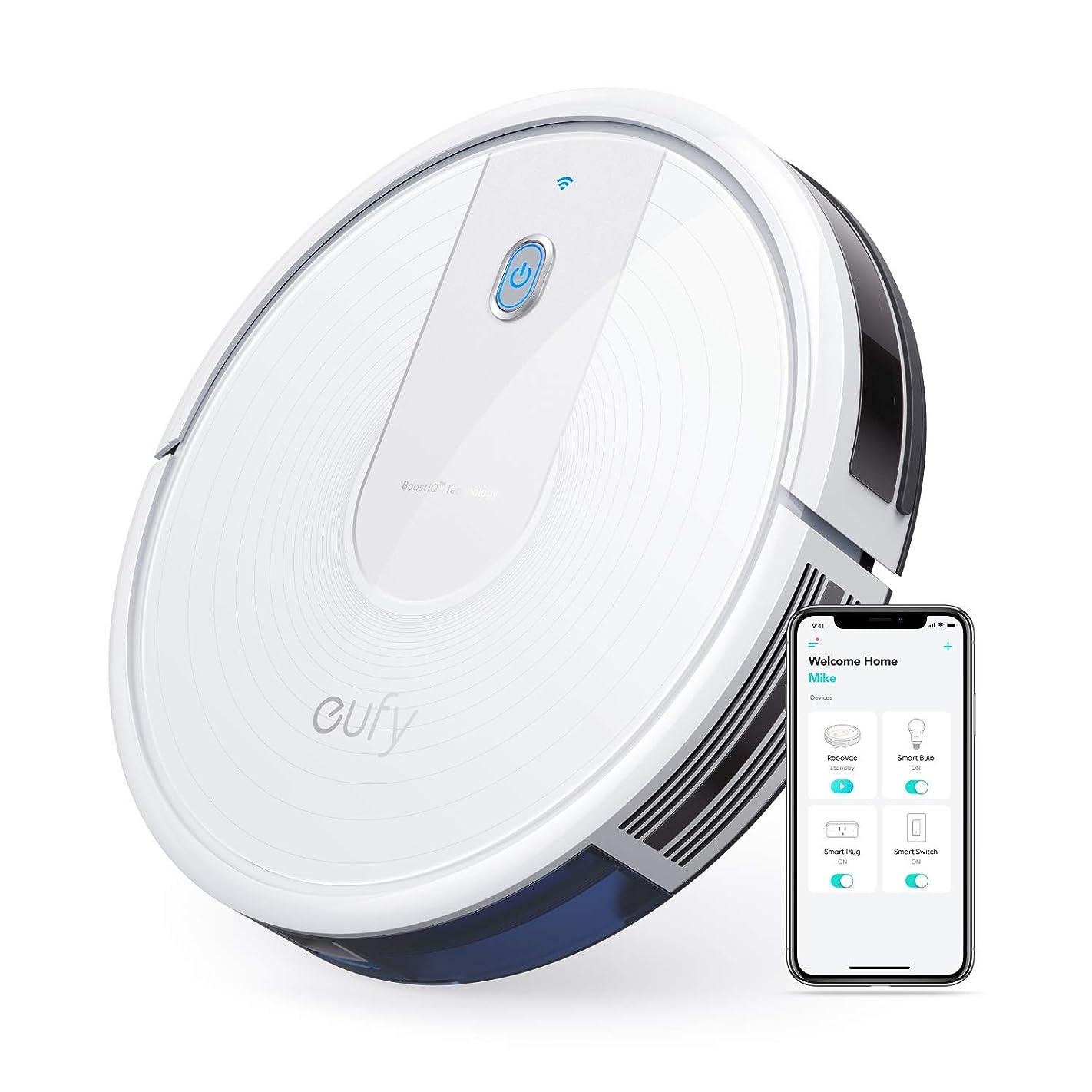 アボートリベラルエミュレートするAnker Eufy RoboVac 15C(ロボット掃除機)【BoostIQ搭載/Wi-Fi対応/超薄型 / 1300Paの強力吸引 / 静音設計/自動充電】
