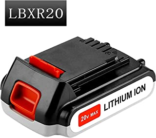 LBXR20 Replacement Battery Compatible with Black and Decker 20V Battery Max Lithium-ion LB20 LBX20 LST220 LBXR2020-OPE LBXR20B-2 LB2X4020 Cordless Tool Battery