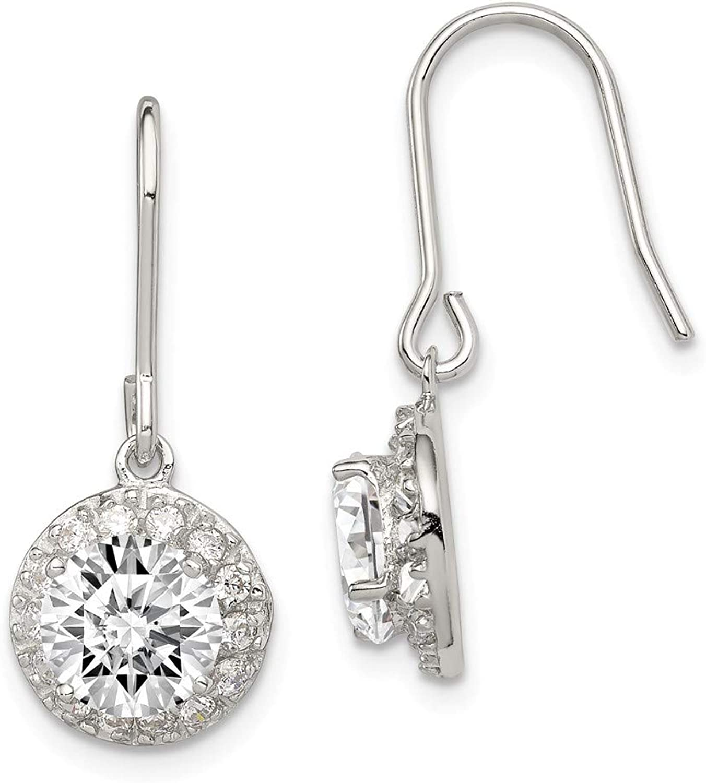Beautiful Sterling silver 925 sterling Sterling Silver CZ Dangle Earrings
