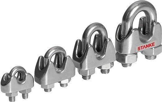Seilwerk STANKE 10 x Pressklemme Gr/ö/ße 2 Seilklemme Drahtseilklemme Aluminium