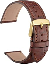 WOCCI 18mm 19mm 20mm 21mm 22mm Alligator Embossed Leather Watch Band, Replacement Strap for Men or Women