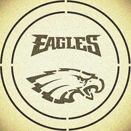 Double Circle Philadelphia Eagles with Team Name Stencil Mylar Sport Mancave Football Stencils