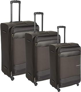 كاميلينت حقائب سفر بعجلات 3 قطع , بني داكن , FD878004-BROWN