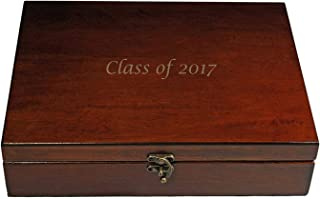 Wood finish with Hinge Concealable Medium Slot Ring Box Made In the USA
