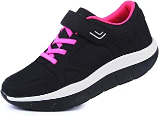 Women's Platform Wedges Tennis Walking Sneakers Comfortable Lightweight Casual Fitness Shoes