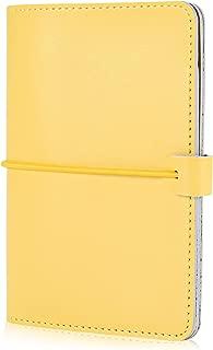 Leather Passport Holder Travel Wallet for Men & Women Passport Cover Slim Id Card Case (Yellow)
