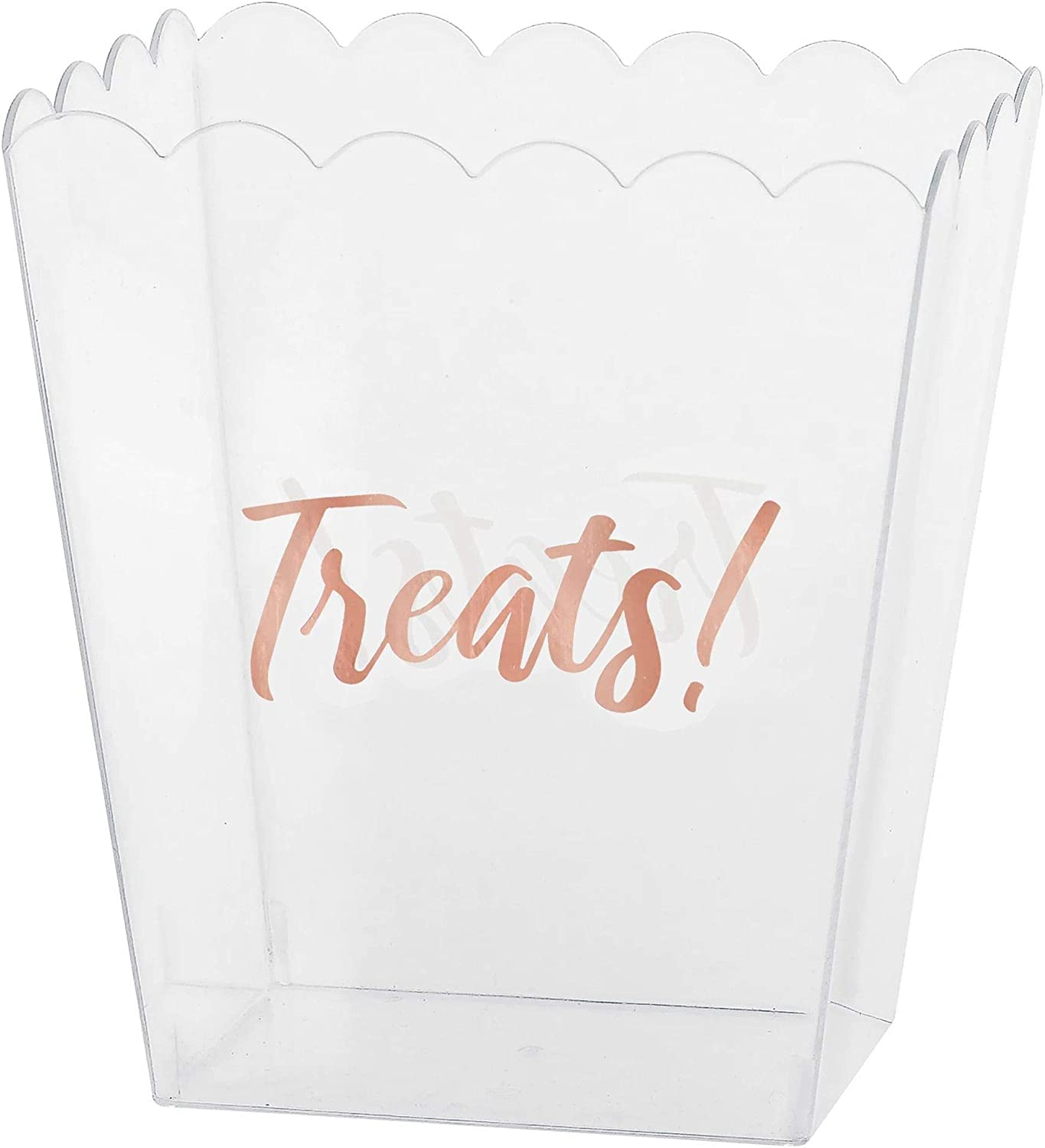 New Orleans Mall Treats Scallop Clear Plastic Container 6