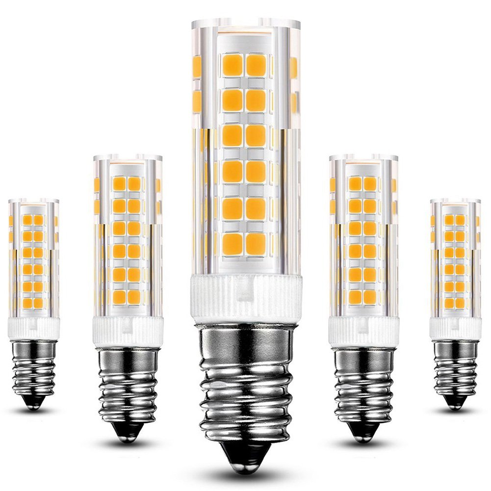 KINDEEP E14 bombilla LED - 7W / 550LM, rosca Edison pequeña (SES), equivalente a bombilla halógena de 60W, Blanco cálido 3000K, Pack de 5: Amazon.es: Hogar