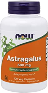 NOW Supplements, Astragalus (huang qi)500 mg, 100 Capsules