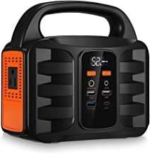 Generator Portable Power Station,NusGear 155Wh 42000mAh Camping Solar Generators Lithium Power Supply with 110V AC Outlet, 2 DC Ports, USB QC3.0, LED Flashlights for CPAP Home Camping Emergen