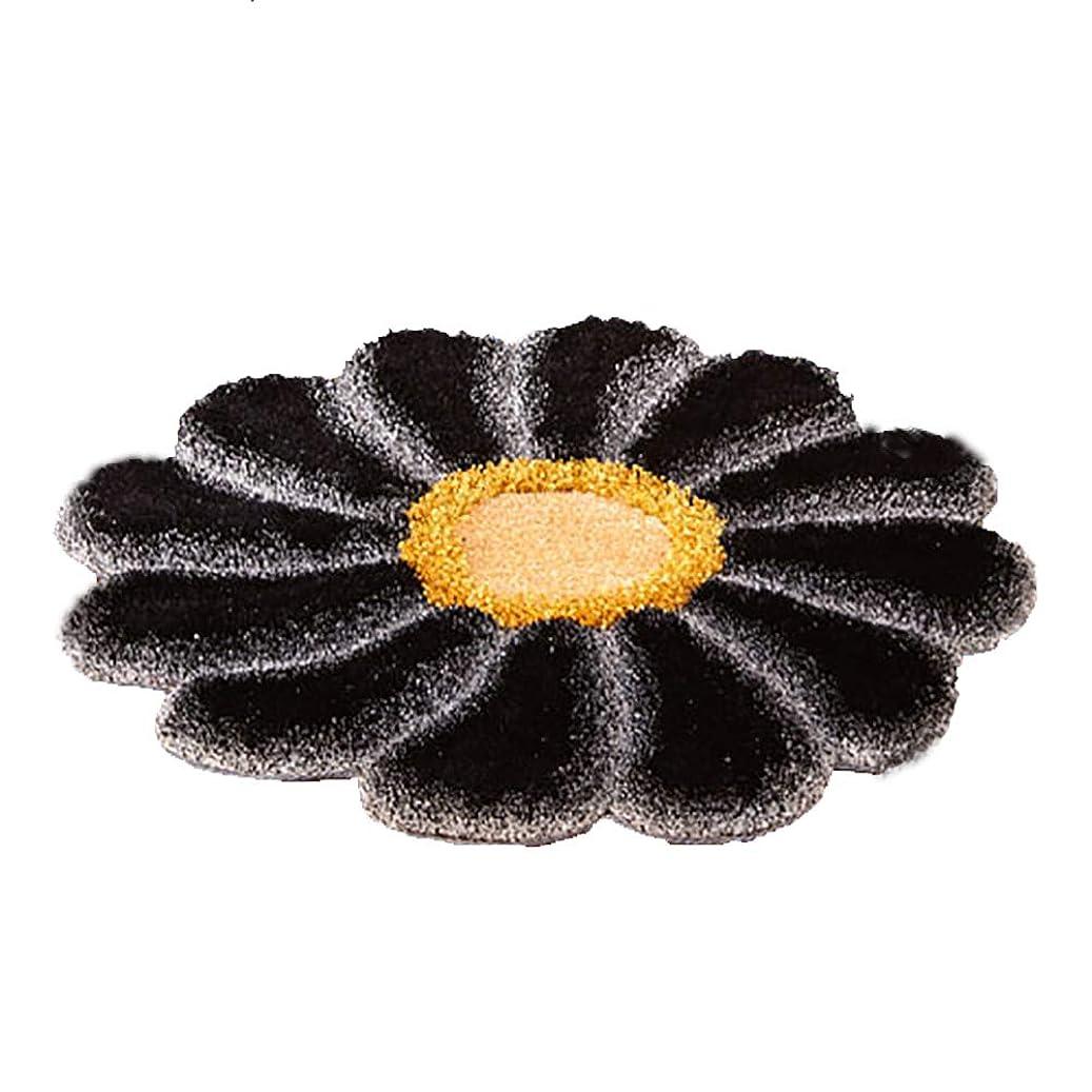 振動させる深さ炭水化物カーペット サンフラワー子供部屋カーペットリビングルームコーヒーテーブルマットデスクチェアブランケット (色 : ブラック, サイズ さいず : 120CM)