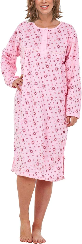 i-Smalls Women Fleece Sun Print Thermal Nightshirt