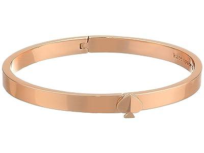 Kate Spade New York Heritage Spade Thin Metal Spade Button Bangle (Rose Gold) Bracelet