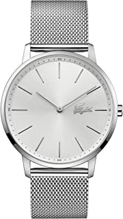 Lacoste Moon Men's Silver Dial Leather Watch - 2011017