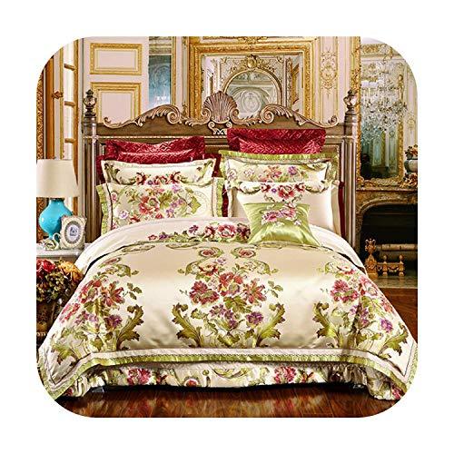 MAC-GIrl 4/6/10 Stks Oosterse jacquard Bruiloft Koninklijke Beddengoed Sets King/Queen Size Katoen Bed sprei Set Dekbedovertrek Kussensloop