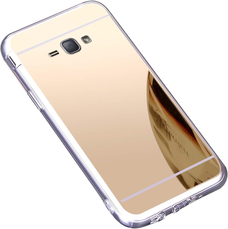 Coque Galaxy Grand Prime,Galaxy Grand Prime Miroir Housse Coque Silicone TPU,Surakey Bling Briller Diamond Coque Miroir Etui TPU Téléphone Coque de ...