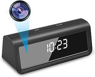 【2020秋最新型】Relohas 置き時計型 隠しカメラ 1080P高画質 166度広角 小型カメラ WIFI接続 長時間録画 録音 スパイカメラ 動体検知 暗視撮影 遠隔操作 上書き録画 スマホ対応 日本語説明書付 SJZCAM01