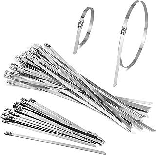 10 Stück 250mmX12mm Kabelbinder Metall Auspuff Verpackung aus Edelstahl