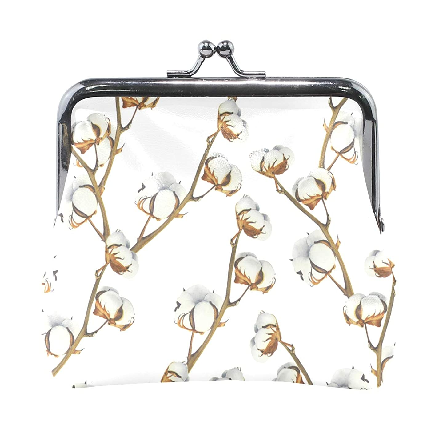 散歩に行くビュッフェ勇気がま口 財布 口金 小銭入れ ポーチ 花 ANNSIN バッグ かわいい 高級レザー レディース プレゼント ほど良いサイズ