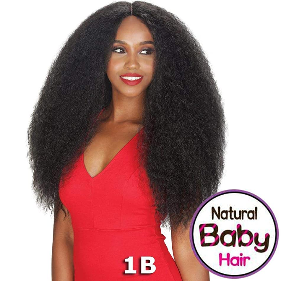 Sis NaturaliStar Blowout Hair Lace Front Wig - CHEX Color: SOMBRE RT Charcoal