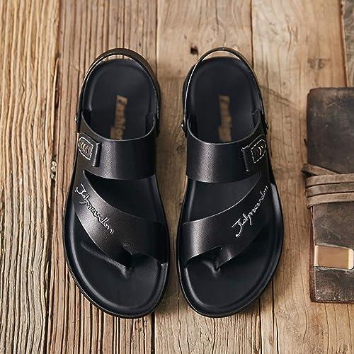Sandales pour hommes Déodorant en polyuréthane, chaussures d'extérieur antidérapantes antidérapantes à fond souple, sandales et pantoufles tout-aller pour hommes, chaussures de plage tendance imperméables pour l'été  première réponse