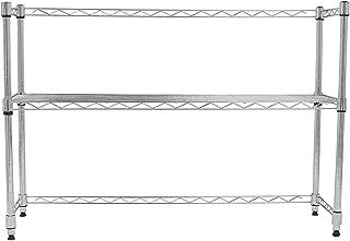 Internet's Best Adjustable Shelf Desktop Organizer | Chrome | Countertop Shelving Unit | Wire Rack Adjustable Closet Shelf