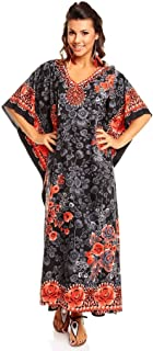 Looking Glam Ladies Full Length Maxi Kimono Kaftan Dress