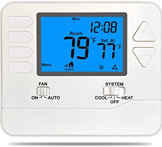 Suuwer SW715 Conventional (Multi-Stage 2Heat / 2Cool) 5-1-1 Day Programmable Thermostat