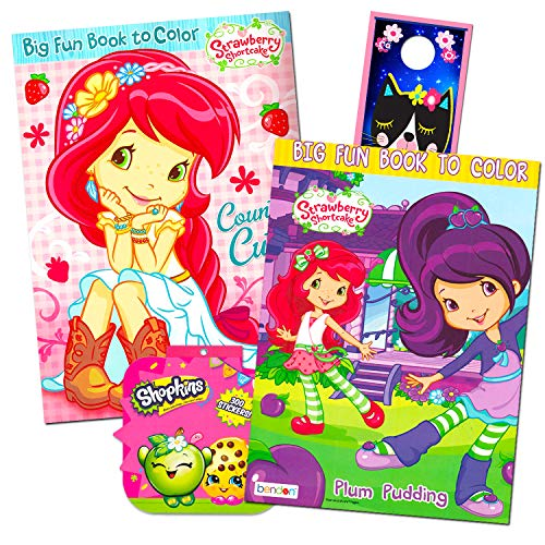 Strawberry Shortcake Coloring Book Super Set -- 2 Jumbo Coloring Books With Over 100 Stickers
