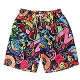 Xmiral Uomo Pantaloncini Shorts Badeshorts Bagno Costume da Bagno Beach Shorts Pantaloncini Spiaggia (L,8Rosso)