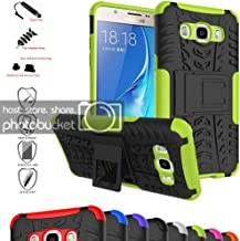 Galaxy J5 2016 Case,Mama Mouth Shockproof Heavy Duty Combo Hybrid Rugged Dual Layer Grip Cover with Kickstand for Samsung Galaxy J5 J510 2016 Smartphone(with 4 in 1 Packaged),Green