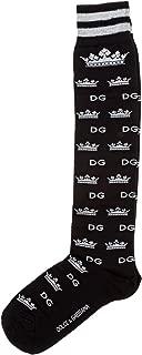 Dolce&Gabbana men knee high socks logo nero
