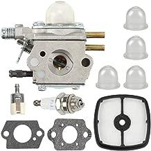Kaymon C1U-K47 SRM2100 GT2100 Carburetor Air Filter for Echo GT2000 PP-1200 PAS-2000 PAS-2100 Trimmer Zama C1U-K29 C1U-K52 12520049030 Carb Fuel Filter Service Tune Up Kit