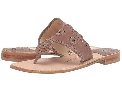 Jack Rogers Jacks Suede Flat Sandal (Taupe) Women