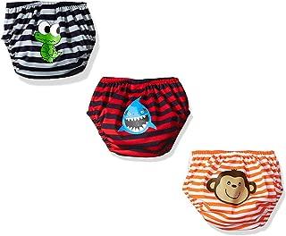 KIKO & MAX Baby Boys' Infant Three-Pack Absorbant Reusable Swim Diaper