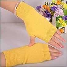 Wool Mitt Exposed Finger Women'S Gloves Knitted For Women Fingerless Gloves Wrist Mittens