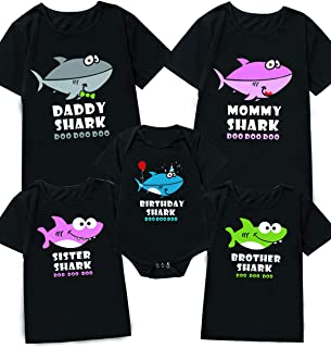 My First Birthday Outfit Funny Shark Family Matching Outfit