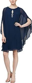 Women's Two Piece Caplet with Rhinestone Beaded Sleeveless Dress