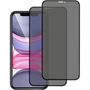 Privacy Screen Protector for iPhone 11/iPhone XR,Innovative Anti-Spy 2.5D Touch Full Cover 9H Tempered Glass[Bubble Free/Install easy] 6.1Inch, 2Pack