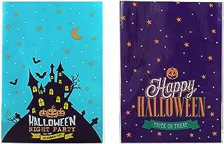 Halloween -behandlingspåse med 2 rullar band, lämplig för Halloween -trick eller godisfest, 3 stilar