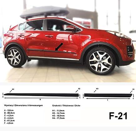 Listones de protección Lateral Negro para Kia Sportage IV SUV Tipo QL a Partir de año