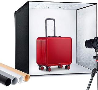 "ESDDI Photo Studio Light Box 24""/60cm Adjustable Brightness Portable Folding Hook & Loop Professional Booth Table Top Phot..."