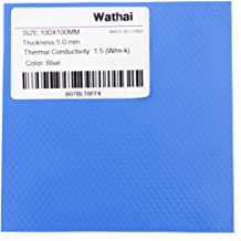 Wathai Blue 100x100mm 5mm Thickness Cooling Thermal Conductive Silicone Pad For CPU GPU IC PS3 PS2 Xbox Heatsink