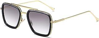 Best SOJOS Polarized Sunglasses for Men Women Retro Aviator Square Goggle Classic Alloy Frame HERO SJ1126 Reviews