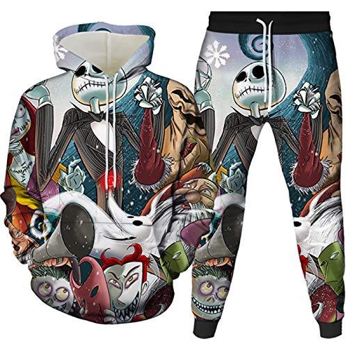 Herren Sportswear Hoodies 3D Gedruckt Zweiteilige Winterjacke Gr. Small, 1601-1700-07-yk2jt