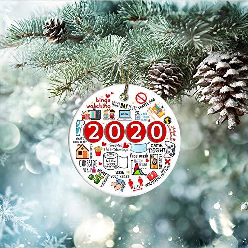 Lplpol Plastic 2020 Memories Quarantine Christmas Ornament, Coworker Gift Ornament, Toilet Paper Mask, Coronavirus Covid Ornament Gift
